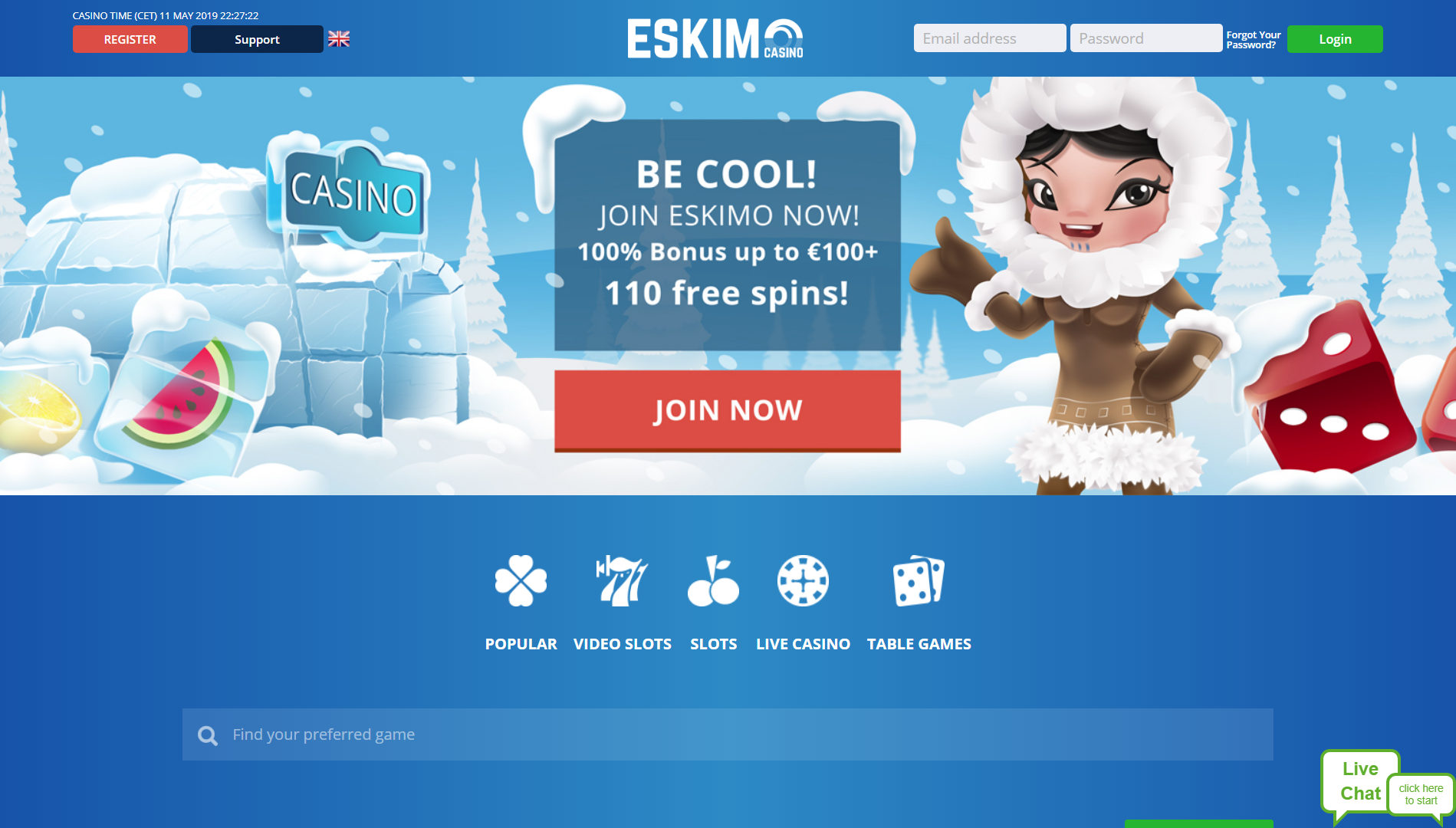 Eskimo Site Screenshot
